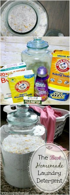 How to make Homemade Laundry Detergent. This easy to make homemade laundry soap…