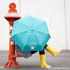 Paraguas wonder. Llueve y no me rayo. Me cojo mi paraguas, me pongo las botas y para la calle que voy. #mrwonderful #umbrellas #paraguas
