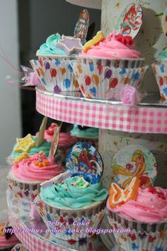 Butterfly Cake Winx Club Cupcakes cakepins.com