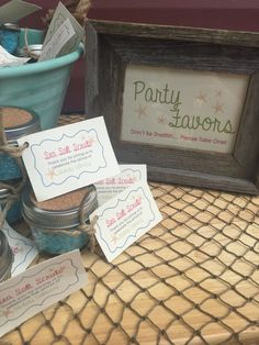Mermaid Baby Shower Party Favors. Fishing Net. Sea Salt Scrub. Mermaid Party. Under the Sea