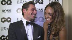 Jourdan Dunn and David Gandy get the giggles at GQ Men Of the Year Award...