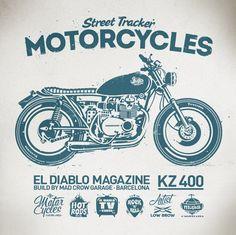 El Diablo Mag. Kawasaki KZ 400 by Alex Patrocinio, via Behance