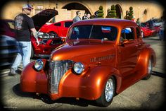 https://flic.kr/p/DWBpQj | Classic Copper Hot Rod Coupe_HDR_ | Nice classic coupe at the Coffee and Cars car show in Oklahoma City.