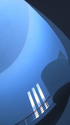 Blue Architecture by Carl Vanassche