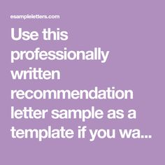 reference letter for a colleague