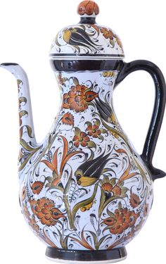 İbrik Tile Art, Mosaic Art, Pottery Vase, Ceramic Pottery, Wedding Vases, Ceramic Design, Art Object, Vases Decor, Ceramic Vase