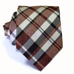 Red & Black Tartan Tie