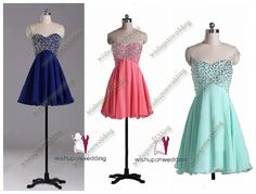 Aline sweetheart Prom Dress blue prom Dresses por wishuponwedding