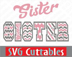 Sister Pattern Vector, SVG, EPS, DXF, Digital Cut File by SVGCUTTABLES on Etsy