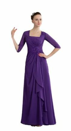 Wisteria Purple Modest Bridesmaid Dress with Elbow Sleeves | Lace ...