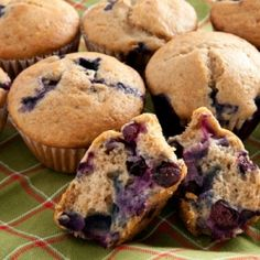 Keep your freezer stocked with these wholesome Blueberry Muffins. They're great for breakfast or as a healthy snack.