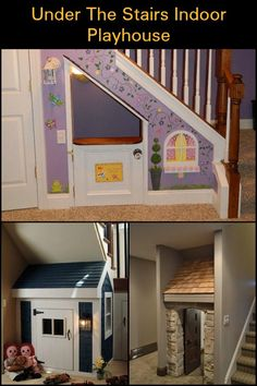 Take inspiration from these amazing indoor playhouses built under the stairs!