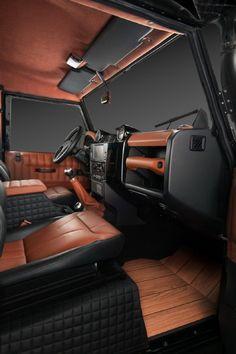 A peak inside the Vilner Land Rover Defender.