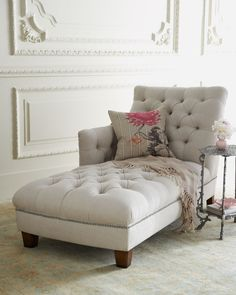 Maddox Tufted Chaise on Wanelo