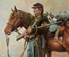 """/""""Duel on Yew Ridge/"""" Don Stivers Signed Limited Edition Civil War Artist Proof"""