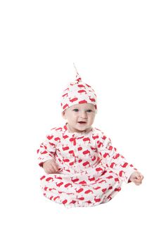 essential red | classic infant sacque + knot hat | elephant  #katequinnorganics #modernbaby #nautical #red #whale #organicbabyclothing