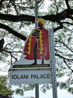 Iolani Palace sign Honolulu, Oahu, Hawaii via flickr