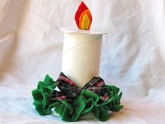 Toilet paper tube candle.  Reminds me of a craft my son made in grade one.