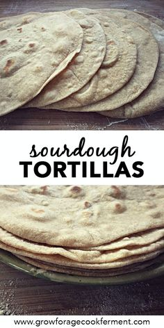 If you have sourdough starter you should make these sourdough tortillas! Free of hydrogenated oils, full of healthy goodness, and they taste awesome! Sourdough Starter Discard Recipe, Sourdough Recipes, Sourdough Bread, Bread Recipes, Starter Recipes, Mexican Food Recipes, Real Food Recipes, Cooking Recipes, Yummy Food