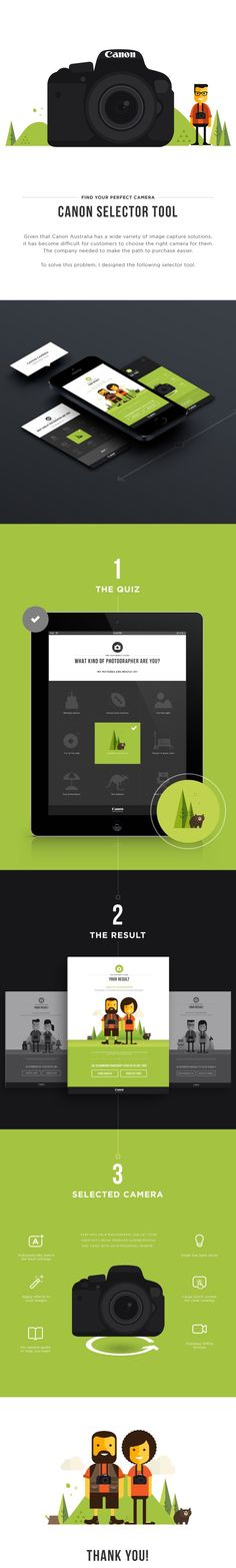 Canon Selector Tool on Behance: