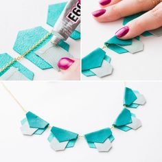 Create a chic leather statement necklace with this kit and tutorial.
