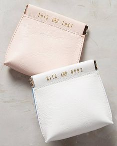 Jet Set Mini Pouch by Anthropologie in Orange, Stationery Unique Gifts For Her, Gifts For Mom, Leather Accessories, Travel Accessories, Things To Buy, Stuff To Buy, Purse Organization, Small Leather Goods, Jewelry Packaging