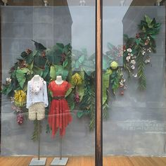 Earth Day paper plants window display | Anthropologie