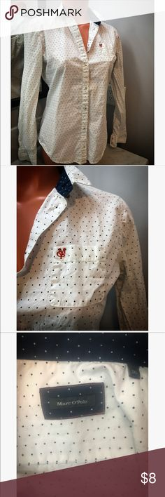 Marc O'Polo button up shirt Marc O'Polo button up shirt, German size 36 = USA size medium, excellent condition, German Brand marc o'polo Tops Button Down Shirts