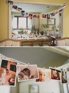 Cute display for a baby shower? Could get guests to email baby photos of themselves to be printed and displayed.