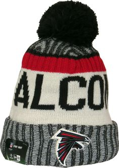 fa1008957f3 Atlanta Falcons New Era NFL 2017 On Field Sport Knit Bobble Hat. Team  colours with