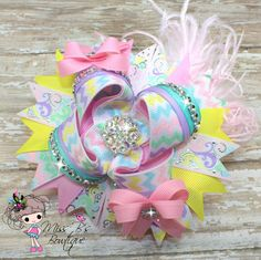Spring has Sprung Over the Top Hair Bow