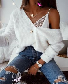 <br> Tank Top Outfits, Pullover Outfits, Pullover Pullover, Winter Outfits For Teen Girls, Spring Outfits, Trendy Winter Outfits, Casual Winter, Tumblr Fall Outfits, Cold Spring Outfit
