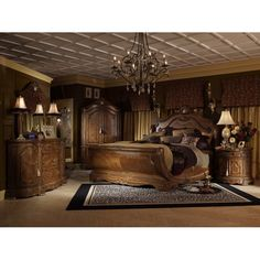 Cortina Bedroom Group by Aico Amini. Get your Cortina Bedroom Group at Wayne's Fine Furniture and Bedding, Jacksonville FL furniture store. Sleigh Bedroom Set, King Bedroom Sets, Traditional Home Furniture, Wattpad, Living Room Tv, My Dream Home, Bedroom Decor, Bedroom Furniture, House Design