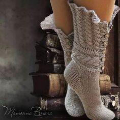 The Legend. Knitted socks, woolen socks, home shoes. Crochet Boot Socks, Knitted Slippers, Knit Mittens, Knitting Socks, Hand Knitting, Knit Crochet, Knitting Designs, Knitting Patterns, Woolen Socks