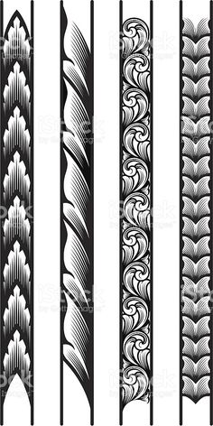 Engraved Borders royalty-free stock vector art