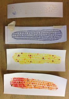 Fall printmaking lesson. Elementary Art Lesson Plan. Taught 2nd-4th grade