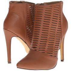 Michael Antonio Jeordee - Performance Women's Zip Boots, Brown ($36) ❤  liked on