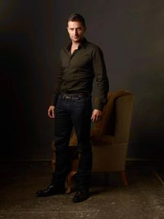 Richard Armitage an Ashcroft photo in the browns with Richard in black.
