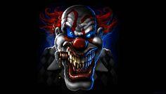 Killer clowns keep out Gruseliger Clown, Creepy Clown, Creepy Carnival, Circus Clown, Cartoon Kunst, Cartoon Art, Art Harley Davidson, Send In The Clowns, Evil Clowns