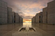 Salk Institute for Biological Studies.La Jolla, California. 1959. Louis Kahn