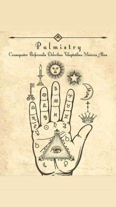 Illustration about Vintage palmistry. Esoteric occult symbols on hand, palm of prophecy retro vector illustration. Illustration of occult, drawing, palmistry - 110964686 Occult Symbols, Magic Symbols, Occult Art, Witchcraft Symbols, Witch Symbols, Wiccan Art, Zodiac Symbols, The Occult, Occult Tattoo