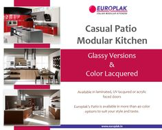 Casual Patio Modular Kitchen For more details Visit : http://www.europlak.in/