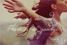 """These are very comforting words for anyone who has lost a loved one because we know we'll see them again. Therefore, """"There's no end. There is no goodbye."""" Lyrics from """"Wait"""" by M83. Song is from The Fault in our Stars soundtrack. #TFIOS #Lyrics #JohnGreen #M83"""