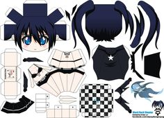 DeviantArt: More Like Chibi Megurine Luka Papercraft by hoshiterasu Black Rock Shooter, Papercraft Anime, Anime Crafts, Paper Art, Paper Crafts, Anime Cosplay Costumes, Paper Animals, Chibi Girl, Miniature Crafts