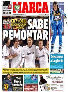 Los Titulares y Portadas de Noticias Destacadas Españolas del 24 de Febrero de 2013 del Diario Deportivo MARCA ¿Que le parecio esta Portada de este Diario Español?
