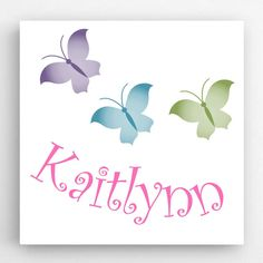Our Personalized Butterflies Kids Canvas Signs is a perfect gift for your child to have in their room. Measures: 14 x Personalized with 1 line and up to 15 characters. Butterfly Kids, Butterfly Images, Butterfly Wall Art, Kids Canvas Art, Canvas Art Prints, Wall Canvas, Canvas Paintings, Diy Canvas, Personalised Canvas