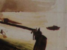 """Ce détail d'un dessin de Victor Hugo représente une piscine, dans laquelle apparaît un nageur, en bord de mer. Une barque apparaît à droite ; au fond, l'horizon - Lié au poème """"Printemps"""", du recueil """"L'Art d'être grand-père (I. À Guernesey)"""" de ce même Victor Hugo."""