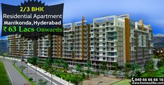 A luxurious residential project at #Manikonda, offering #2BHK and #3BHK residential flats for sale. Hurry up!!! Size range: 1684 - 3325 Sq.ft Price Range: 63Lacs to 1.26Crore  For more details click on http://www.homesulike.com/index.php/projects/viewdetails/Western-Plaza1#description Call us 040-66666616 for site visit.