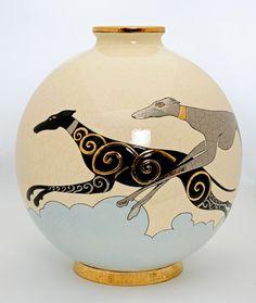 Clay Design, Art Deco Design, Art Nouveau, Colonial, Vases, Online Galerie, Advanced Ceramics, Animal Paintings, Art Deco Fashion
