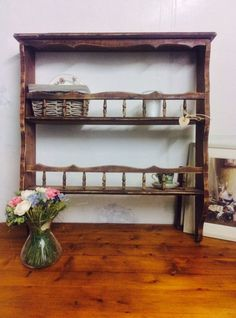 Gorgeous original vintage French 'barn find' dresser top/rustic shelving by Theoldsummerhouse on Etsy